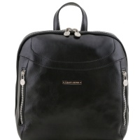 Tuscany Leather Kožený ruksak Manila - Black