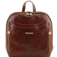 Tuscany Leather Kožený ruksak Manila - Brown