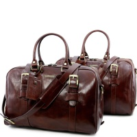 Tuscany Leather Cestovný set VESPUCCI - Brown
