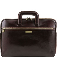 Tuscany Leather Caserta - business taška - Dark Brown