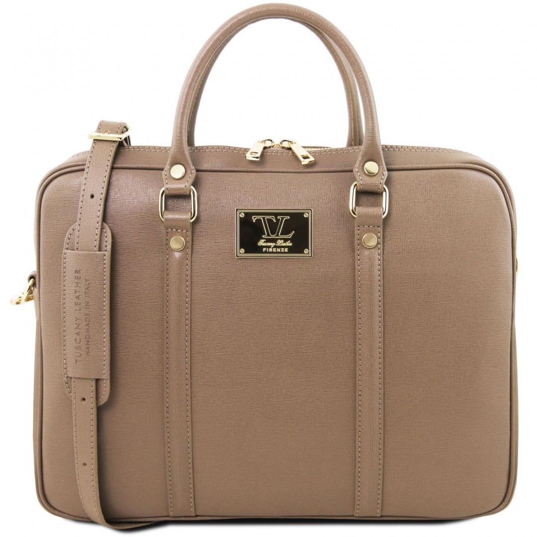 f81439103292 Prato - dámska kožená taška na notebook Tuscany Leather