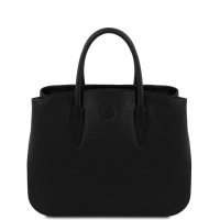 Tuscany Leather Camelia - Leather handbag - Black