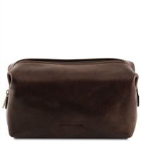 Tuscany Leather Kozmetická taška SMARTY - large - Dark Brown