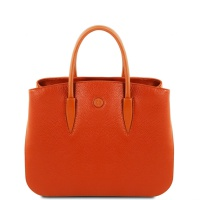 Tuscany Leather Camelia - Leather handbag - Brandy