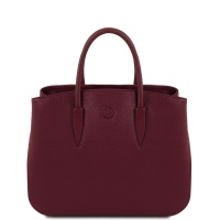 Tuscany Leather Camelia - Leather handbag - Bordeaux
