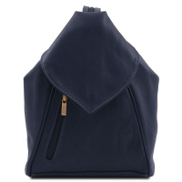 Tuscany Leather Kožený ruksak DELHI - Dark Blue