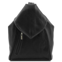 Tuscany Leather Kožený ruksak DELHI - Black