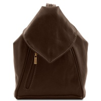 Tuscany Leather Kožený ruksak DELHI - Dark Brown