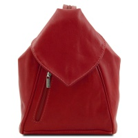 Tuscany Leather Kožený ruksak DELHI - Red