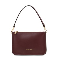 Tuscany Leather Cassandra - Leather clutch handbag - Bordeaux