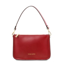 Tuscany Leather Cassandra - Leather clutch handbag - Red