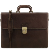 Tuscany Leather Kožená pánska aktovka Parma - Dark Brown