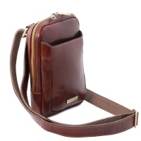 Tuscany Leather Mark - pánska kožená Crossbody taška -