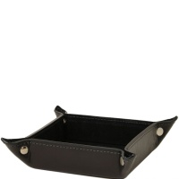 Tuscany Leather Exclusive leather tidy tray small size - Black