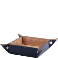 Tuscany Leather Exclusive leather tidy tray small size - Blue