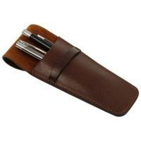 Tuscany Leather Exclusive 2 slots leather pen holder -