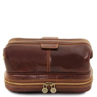 Tuscany Leather Patrick - Leather toilet bag - Brown