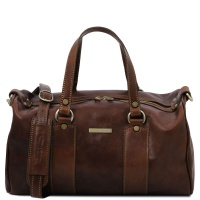 Tuscany Leather Lucrezia - Leather maxi duffle bag - Dark Brown
