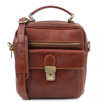 Tuscany Leather Brian - Leather shoulder bag for man