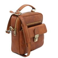 Tuscany Leather Brian - Leather shoulder bag for man -