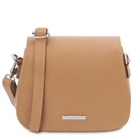 Tuscany Leather Jasmine - Leather shoulder bag - Champagne