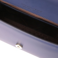 Tuscany Leather Fortuna - Leather clutch with chain strap  -