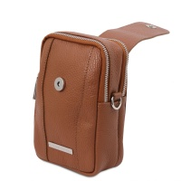 Tuscany Leather TL Bag - Soft Leather cellphone holder mini cross bag -