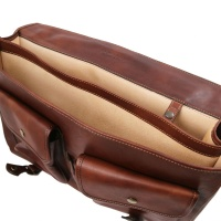 Tuscany Leather Ancona - Leather messenger bag -