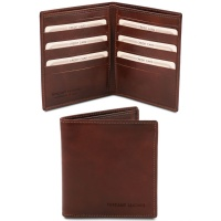 Tuscany Leather Exclusive 2 fold leather wallet for men - Brown