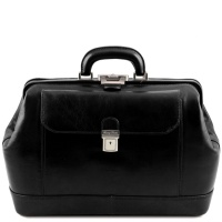 Tuscany Leather Leonardo - Exclusive leather doctor bag - Black