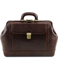Tuscany Leather Leonardo - Exclusive leather doctor bag - Dark Brown